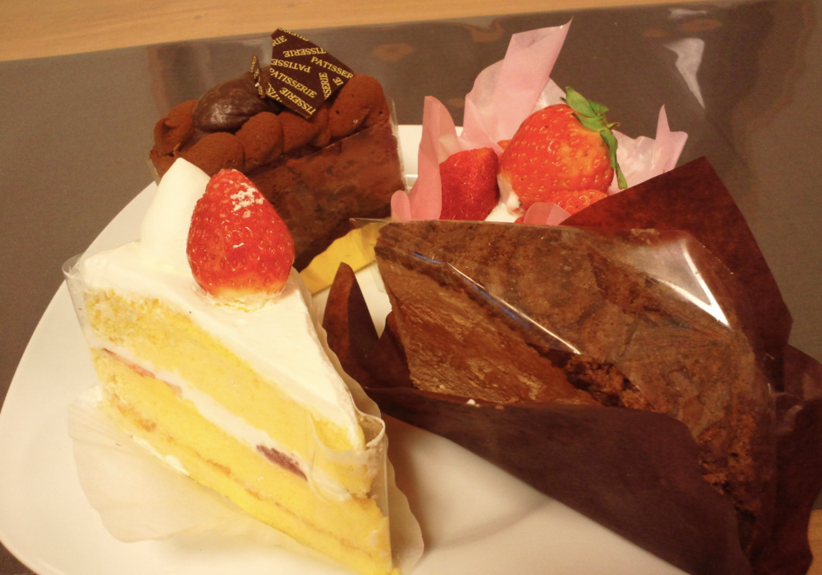 テイクアウトできるケーキ